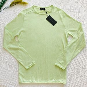 NWT ZARA Lime Green Pullover Cotton Sweater SM